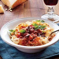 Slow-Simmered Meat Sauce with Pasta | Summer Slow-Cooker Recipes | For delicious, make-ahead, summertime meals, nothing beats a slow cooker. It's the only tool you'll need to transform simple ingredients and lean cuts of meat into filling, flavorful dishes. | CookingLight.com