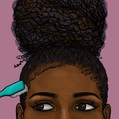 black art These Black History Month Gifs Perf - art Black Love Art, Black Girl Art, My Black Is Beautiful, Black Girls Rock, Black Girl Magic, Art Girl, Natural Hair Art, Natural Hair Styles, Black Girl Cartoon