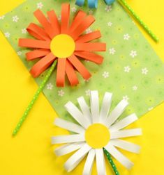 ❤ Simple spring paper flower craft - kids paper craft idea ❤Mindy -  craft idea & DIY tutorial collection