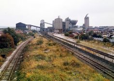 Hucknall railway line, looking south. Remains of Hucknall Byron in foreground, Hucknall Colliery No. 2 beyond. Steam Railway, Old Trains, Coal Mining, Nottingham, Old Photos, Railroad Tracks, Abandoned, Roots, English