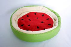 So cute! my guinea pig would love this! cosy cuddle bed watermelon for guinea pigs by TheCosyHut on Etsy.