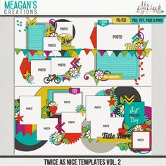 Twice As Nice Templates Vol. 2 by Meagan's Creations