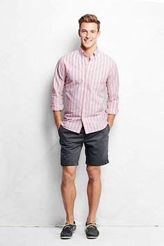 "Men's 8"" Linen Cotton Marina Shorts from Lands' End"