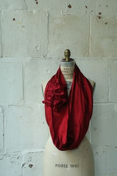 so red. looks fun to wear. by artlab #agteam on #etsy $58