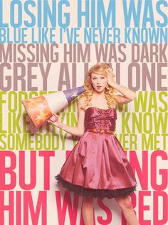 Red - Taylor Swift. Anyone else notice that all the words are the color that Is in the lyric, EXCEPT red? #celebrities