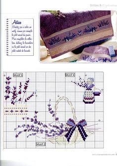 0 point de croix grille et couleurs de fils provence lavande partie 2