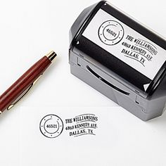 Create a professional executive gift with the Postmark Address Self-Inking Stamper. Find the best personalized office gifts at PersonalizationMall.com