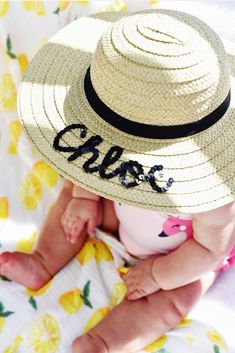 a12f4b17bd0 Baby   Toddler   Girl    Custom   Personalized Kids Sequin Floppy Straw Sun  Hat    Beach Hat    Vac