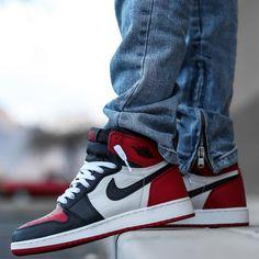 "Air Jordan 1 Retro High OG ""Bred Toe"" Air Jordan Sneakers, Jordans Sneakers, Air Jordans, Sneaker Games, Jordan 1 Retro High, Shoe Game, Nike Air Force, Me Too Shoes, Basketball"