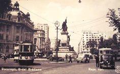 Bucuresti,Bulevardul Bratianu anii '40 Paris, Bucharest Romania, Old City, Street View, Memories, Romania, Universe, Bucharest, Memoirs
