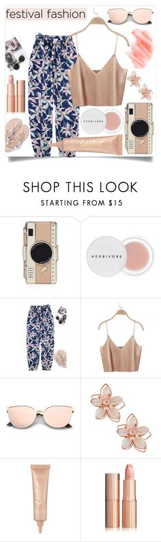 """""""I get a thousand hugs, from ten thousand lightning bugs as they try to teach me how to dance.."""" by its-siobhan-again ❤ liked on Polyvore featuring Kate Spade, Herbivore, NAKAMOL, tarte and Birchrose + Co."""