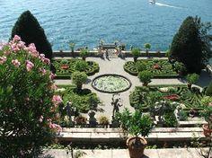 Isola Bella, garden on Lago Maggiore in Stresa Italy, so beautiful here!!  <3