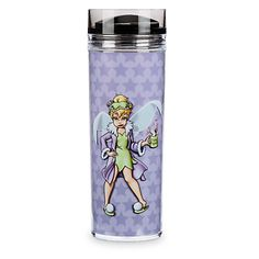 Tink's looking a little the worse for wear as she wakes to realize ''Mornings aren't magical.'' Like the weary pixie, you can improve the day with a refreshing drink from this amusing Tinker Bell Travel Tumbler.