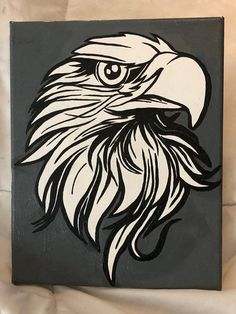 handpainted eagle on cavas by WhatchamaCloset on Etsy Eagle Painting, Make Art, Shop Art, Handmade Items, Diy Crafts, Hand Painted, Etsy Shop, Dremel Router, Drawings