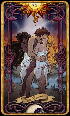 6 The Lovers - Tarot Card by Cupcakes-lover Find out what the Lovers means for you: www.tarotbyemail.com