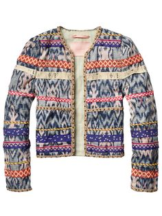 1ac247abc6217 All-over printed jacket with colourful details - Jackets - Official Scotch    Soda Online Fashion   Apparel Shops