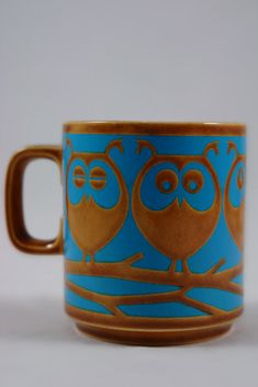 John Clappison designs for Hornsea Pottery - love these owls and the colors!