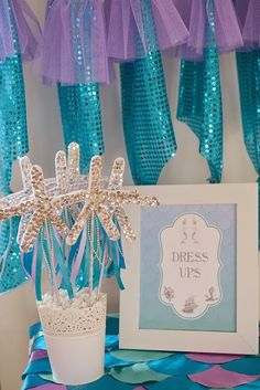 Starfish wands. GENIUS!!! Little Big Company | The Blog: A Whimsical Under the Water Mermaid Party by Lottie and Me