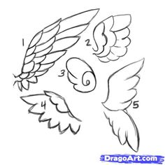 angel wings drawing - Google Search
