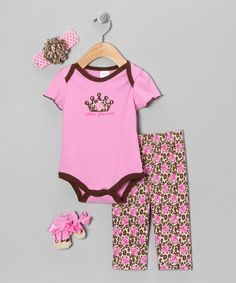 Take a look at this Pink 'Little Princess' Layette Set by Baby Essentials on #zulily today!