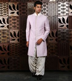 Block Printed by at Rohit Bal, Wedding Sherwani, Indian Ethnic, Lilac, Menswear, Culture, Printed, Coat, How To Wear