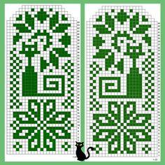 写真 Knitted Mittens Pattern, Crochet Mittens, Knit Crochet, Knitting Charts, Knitting Patterns, Square Patterns, Cross Stitch Flowers, Gloves, Wall Photos