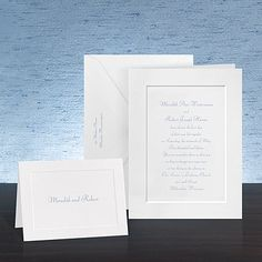 Invitation ideas - could even add a little DIY splashes of color...