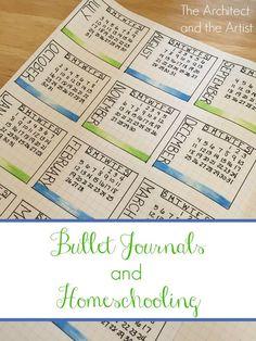 Using a bullet journal for homeschool planning. #bulletjournals #homeschool