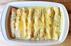 White Chicken Enchilada Recipe (Chile & Sour Cream Sauce)
