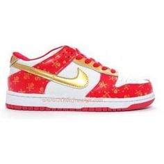 Nike Dunk Low Women Red Skulls Red White Gold K04035