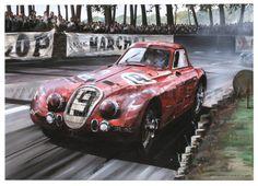 Alfa Romeo 2900B at Le Mans by Nicholas Watts