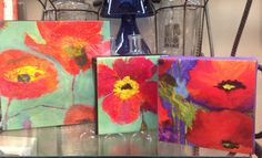 Beautiful hand painted small canvas by Jacque Michelle Artworks!