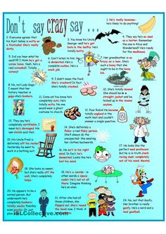Idioms for Crazy Poster and Pictionary
