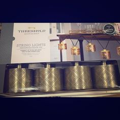 NIB threshold String lights - indoor/outdoor New in box - 7 total lights - see pic for measurements .price firm unless bundled Threshold Other