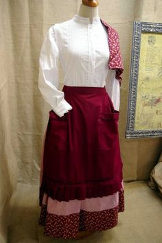 Caseras European Dress, Ribbon Shirt, 20th Century Fashion, High Waisted Skirt, Character Design, Skirts, Magic, Dresses, Folklore