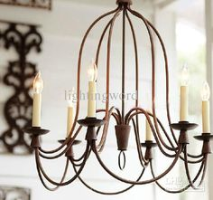Wholesale Modern Nordic Wrought Iron Chandelier Living Room Study Room Pendant Lamp 6 Light, Free shipping, $458.7/Piece | DHgate