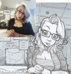 Illustrator turns strangers into anime characters - . - Illustrator turns strangers into anime characters – - Cartoon Drawings Of People, Cartoon People, Cartoon Sketches, Drawing People, Drawing Sketches, Pencil Drawings, Drawing Drawing, Cartoon Hair, Cartoon Faces