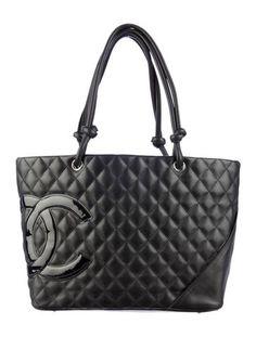 All Black: Chanel Cambon Tote.