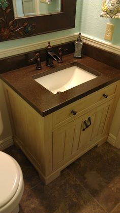 DIY Concrete Counter with Undermount Sink - I like the final result. - from The Mono Loco: Concrete Counter with Undermount Sink
