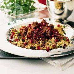 Photo recette : Couscous d'agneau à l'iranienne