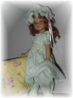 """*SMOCKED*NITE GOWN & QUILT SET FOR EFFNER LITTLE DARLING/TONNER14""""BETSY MCCALL"""