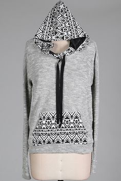 The Terry Front Aztec Sweater just $18.00