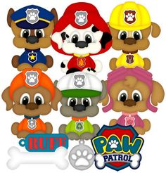 AnimalsPets Page 6 Pup Patrol, Paw Patrol Party, Scrapbooking, Scrapbook Pages, Clipart, Crafts To Do, Paper Crafts, Free Paper Piecing Patterns, Puppy Room
