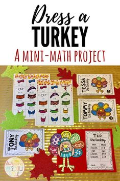 Thanksgiving math activity - students add up the cost of each turkey's outfit and then dress up their own turkey! Thanksgiving Classroom Activities, Thanksgiving Math, Classroom Ideas, Money Activities, Money Games, Math Crafts, Math Projects, Addition Activities, Teaching Addition