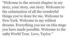 First page of the 1989 world tour book