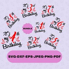 Its my Birthday Bundle Svg Designs for Cricut and Silhouette, T-shirt svg, Birthday Svg Cut Files , Instant Download T Shirt Transfers, Silhouette Designer Edition, Svg Files For Cricut, Cutting Files, Design Bundles, How To Get, Messages, Birthday, Etsy