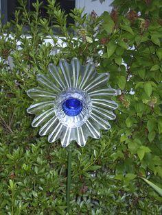 garden art glass flower