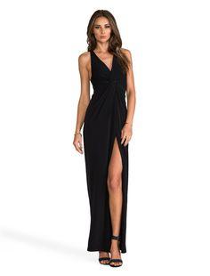 7897ba7410f8 Black dress with slit