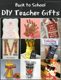 DIY Teacher Gifts for Back to School