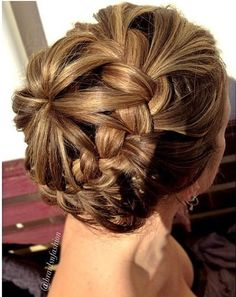 Starburst Crown Braid So leave a line of hair out around hair line, pull rest back into ponytail and braid around together?… BEAUTIFUL!